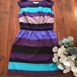 LOFT Dress in Mixed Stripe